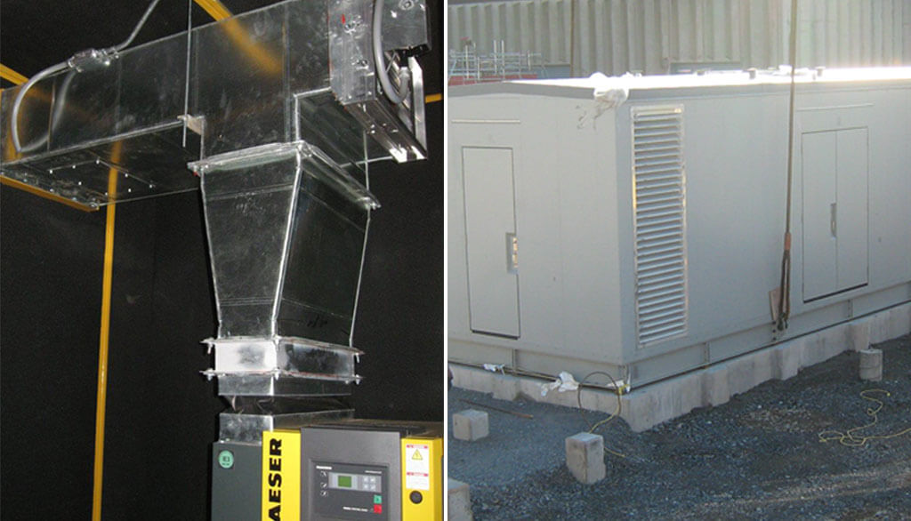 Industrial and soundproof containers