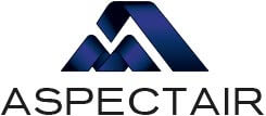 Aspectair logo, dust collectors and industrial containers